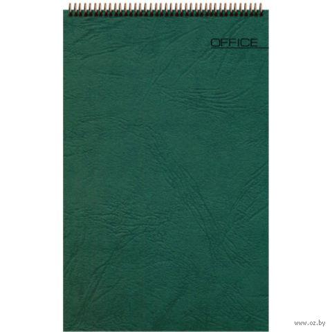 """Блокнот в клетку """"Office"""" (А5; зеленый) — фото, картинка"""