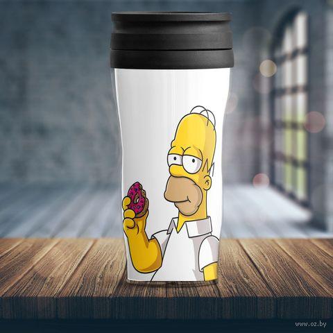 "Термостакан ""Симпсоны"" (арт. 4) — фото, картинка"