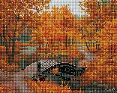 "Алмазная вышивка-мозаика ""Осенний парк"" (400х500 мм) — фото, картинка"