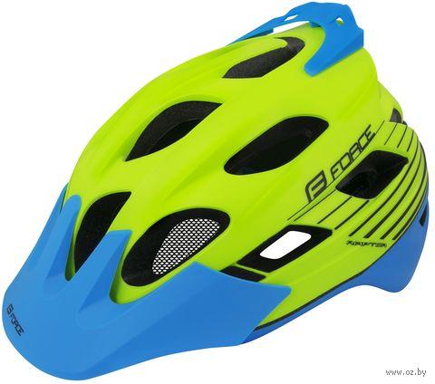 """Шлем велосипедный """"Raptor MTB"""" (салатово-синий; р. S-M) — фото, картинка"""