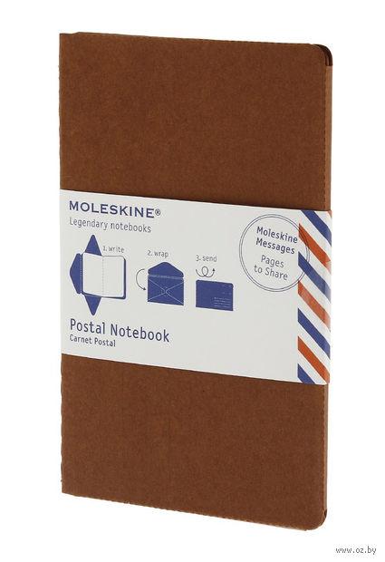 """Почтовый набор Молескин """"Postal Notebook"""" (карманный; мягкая обложка, цвет: терракотовый)"""