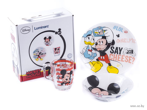 "Набор для завтрака ""Party Mickey"" (3 предмета) — фото, картинка"