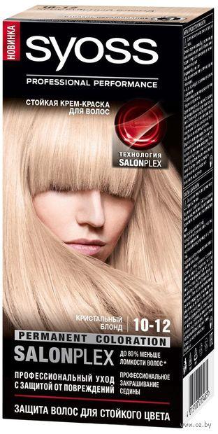 """Крем-краска для волос """"Syoss"""" тон: 10-12, кристальный блонд — фото, картинка"""