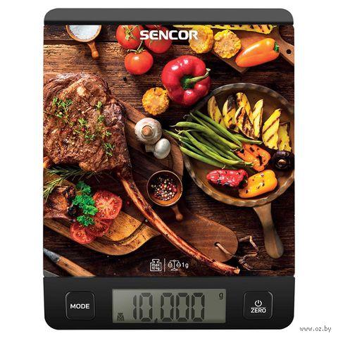Кухонные весы Sencor SKS 7001BK — фото, картинка