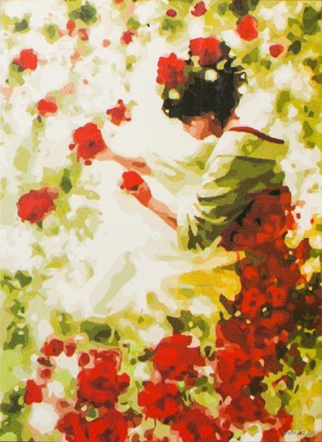 """Картина по номерам """"Нежность роз"""" (400x500 мм; арт. MG144)"""
