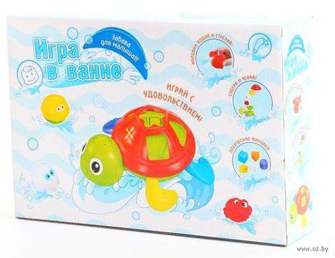"""Набор игрушек для купания """"Черепаха-сортер с формочками"""""""
