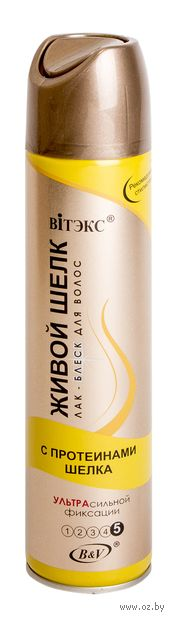 """Лак-блеск для волос """"С протеинами шелка"""" ультрасильной фиксации (300 мл) — фото, картинка"""
