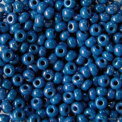 Бисер №34210 (синий, радужный)