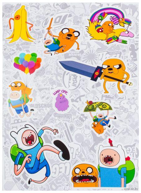 "Набор глянцевых наклеек ""Adventure Time №1"" — фото, картинка"