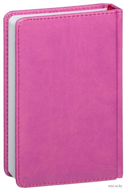 """Ежедневник недатированный """"Velvet"""" (А6; розовый) — фото, картинка"""
