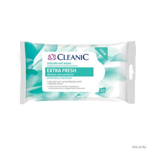 """Влажные салфетки для интимной гигиены """"Extra Fresh"""" (10 шт.) — фото, картинка"""