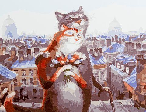 """Картина по номерам """"Петербургские коты. Белые ночи"""" (400х500 мм) — фото, картинка"""