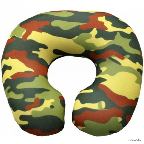 "Подушка под шею ""Хаки"" (34х34 см; коричневая) — фото, картинка"