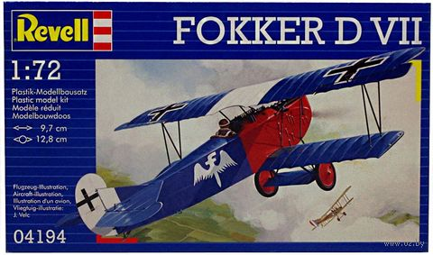 """Сборная модель """"Истребитель Fokker D VII"""" (масштаб: 1/72) — фото, картинка"""
