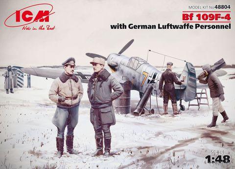Истребитель Bf 109F-4 с персоналом ВВС Германии (масштаб: 1/48) — фото, картинка