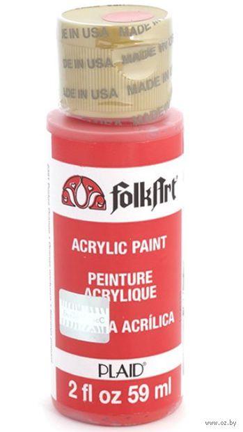 "Краска акриловая ""FolkArt. Acrylic Paint"" (оранжевый декупаж, 59 мл; арт. PLD-02391)"