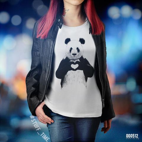 "Футболка женская ""Панда"" (XL; арт. 512) — фото, картинка"
