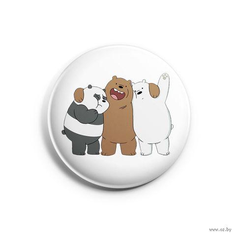 """Значок маленький """"Вся правда о медведях"""" (арт. 685) — фото, картинка"""