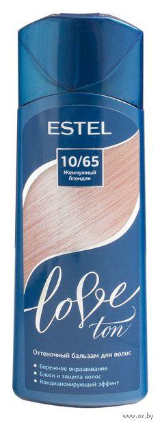 """Оттеночный бальзам для волос """"Love Ton"""" тон: 10/65, жемчужный блондин (150 мл) — фото, картинка"""