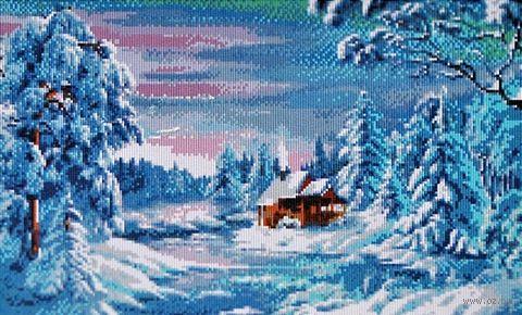 "Алмазная вышивка-мозаика ""Зимний лес"" (600х400 мм) — фото, картинка"