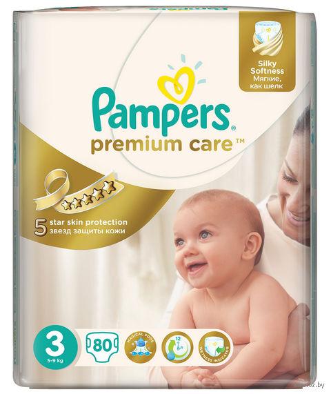 """Подгузники """"Pampers Premium Care Midi Jambo"""" (5-9 кг, 80 шт)"""