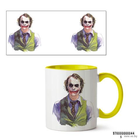 """Кружка """"Джокер из вселенной DC"""" (желтая; арт. 0044) — фото, картинка"""