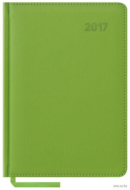 """Ежедневник датированный """"Vivella"""", 2017 (А5; 176 листов; салатовый)"""