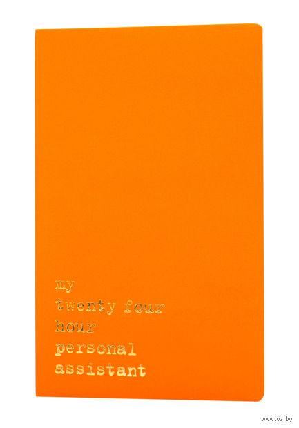 """Записная книжка Молескин """"Volant. My Twenty Four Hour"""" в линейку (большая; мягкая оранжевая обложка)"""