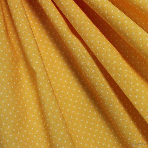 """Ткань """"Мелкий горошек"""" (48х50 см; рыжий) — фото, картинка"""