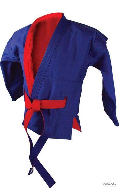 Куртка для самбо двухсторонняя AX55 (р. 32/130; красно-синяя) — фото, картинка