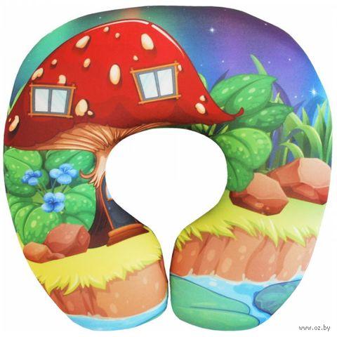 """Подушка под шею """"Детская"""" (29х29 см; разноцветная) — фото, картинка"""