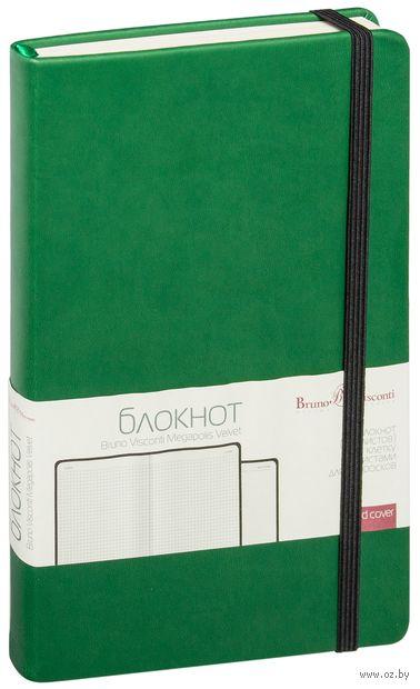 """Блокнот в клетку """"Megapolis Velvet"""" (А5; зеленый) — фото, картинка"""