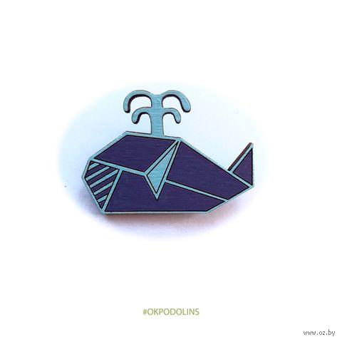"""Значок """"Геометрический кит"""" (арт. 56-1) — фото, картинка"""