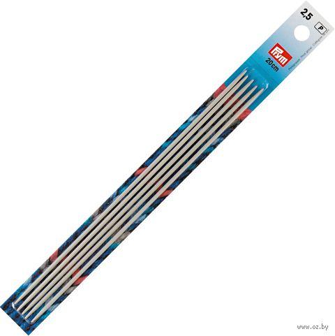 Спицы чулочные для вязания (алюминий; 2,5 мм; 20 см) — фото, картинка