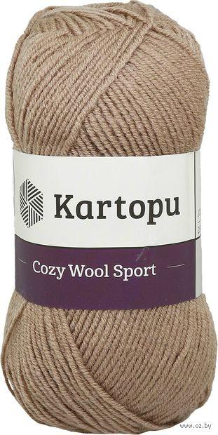 "Пряжа ""KARTOPU. Cozy Wool Sport №K885"" (100 г; 280 м; темно-бежевый) — фото, картинка"