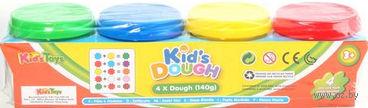 """Пластилин """"Kid's Dough"""" (4 цвета; арт. 11031)"""