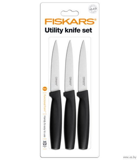 Нож для чистки Functional Form Fiskars (3 шт.; черный)