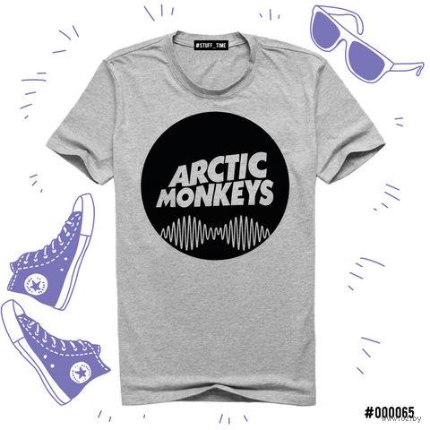 "Футболка серая унисекс ""Arctic Monkeys"" (M; арт. 065) — фото, картинка"