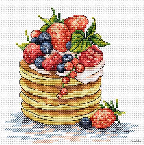 "Вышивка крестом ""К завтраку"" (180х150 мм) — фото, картинка"