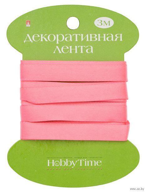 """Лента атласная """"Hobby Time"""" (ярко-розовая; 9 мм; 3 м) — фото, картинка"""
