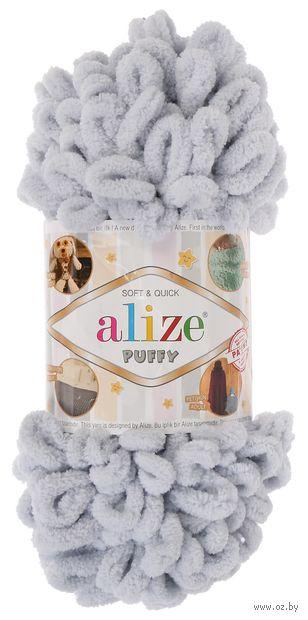 "Пряжа ""ALIZE. Puffy №416"" (100 г; 9,2 м; светло-серый) — фото, картинка"