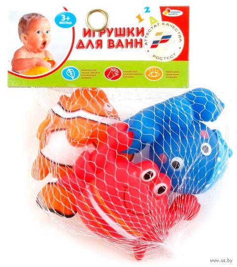 "Набор игрушек для купания ""Морские обитатели"" (3 шт.) — фото, картинка"