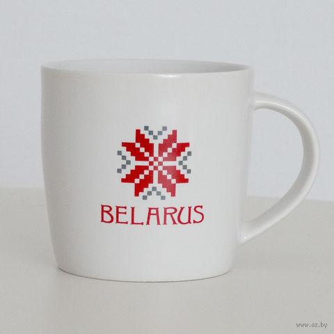 """Кружка керамическая Vitaem """"Belarus"""" (фигурная, белая)"""