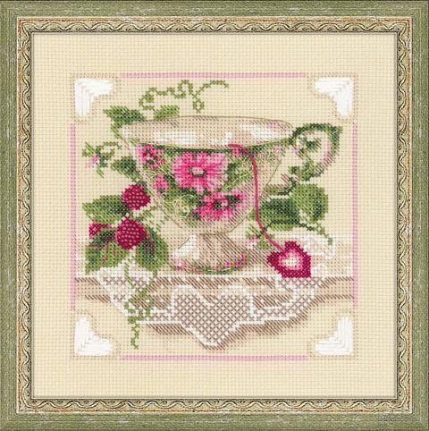 """Вышивка крестом """"Малиновый чай"""" (арт. 1476)"""