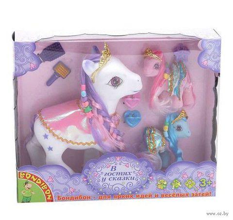 """Игровой набор """"Пони в юбках"""" (3 лошадки; арт. ВВ0682)"""