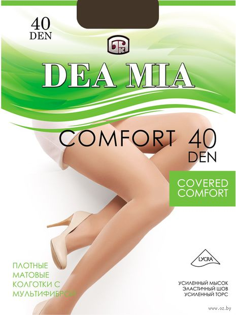 """Колготки женские классические """"Dea Mia. Comfort 40"""" — фото, картинка"""