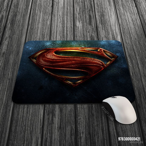 """Коврик для мыши большой """"Супермен"""" (арт. 421)"""