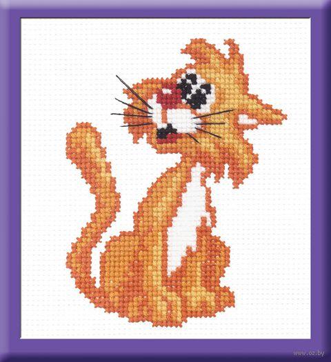 """Вышивка крестом """"Рыжий кот"""" (140x110 мм) — фото, картинка"""