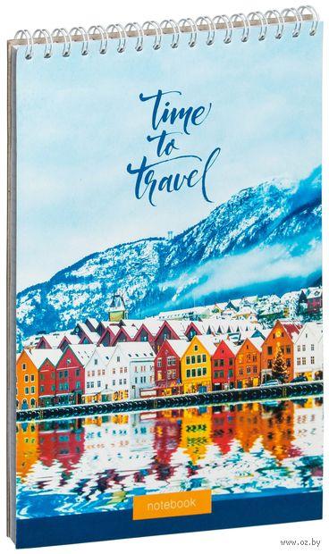"Блокнот в клетку ""Путешествия. Time to Travel"" (А5) — фото, картинка"