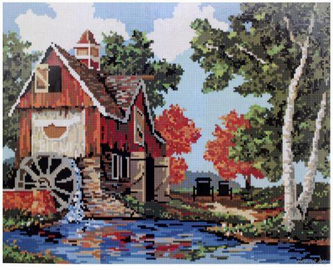 "Алмазная вышивка-мозаика ""Водяная мельница"" (400x500 мм) — фото, картинка"